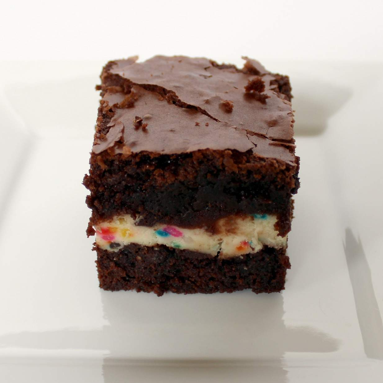 Sky-High Confetti Cream Cheese Brownies